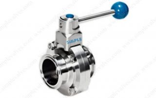 Tri-clamped Butterfly Valve