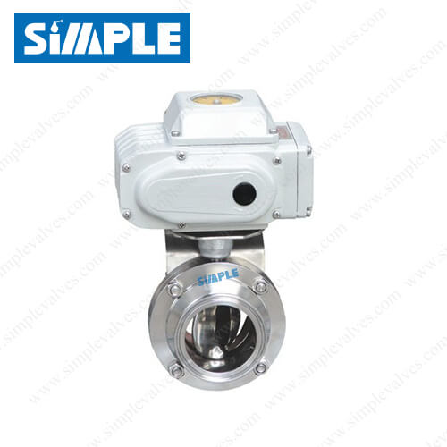 sanitary-electric-actuated-butterfly-valve