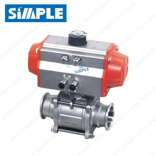 sanitary-pneumatic-actuated-ball-valve