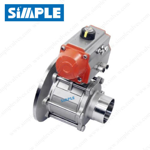 sanitary-air-actuated-ball-valve