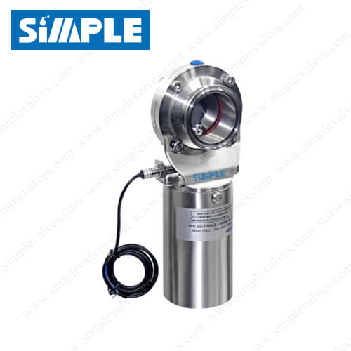 Sanitary Clamp Butterfly Valve with Proximity Switches