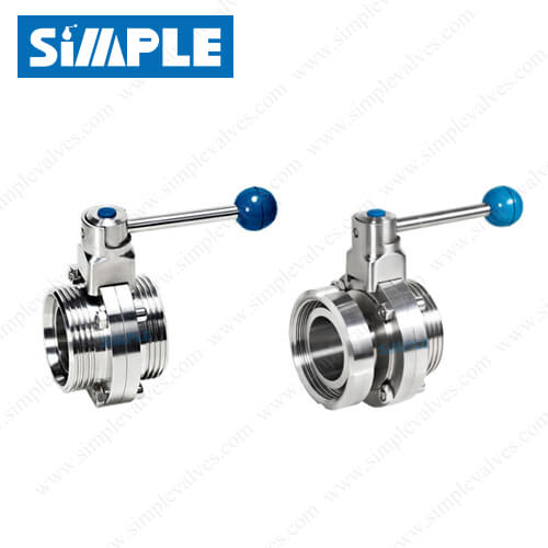 Threaded End Butterfly Valve, Sanitary Design, Manual Type