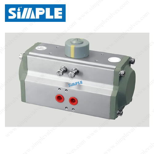 6. Aluminum Pneumatic Actuator, Horizontal Type