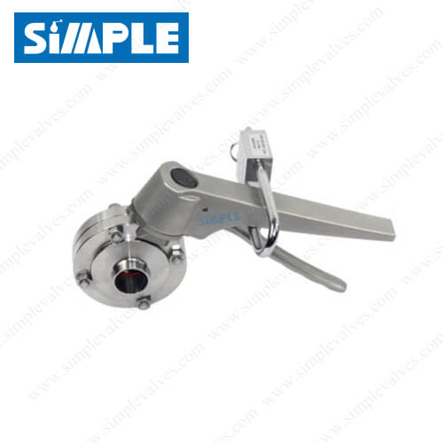 Sanitary Manual Butterfly Valve with SS Lockable Handle